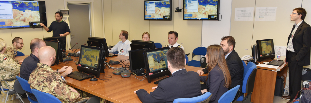 GeohuB: Successful Training and Operational Field Trial concluded at EUNAVFOR MED Operation SOPHIA HQ