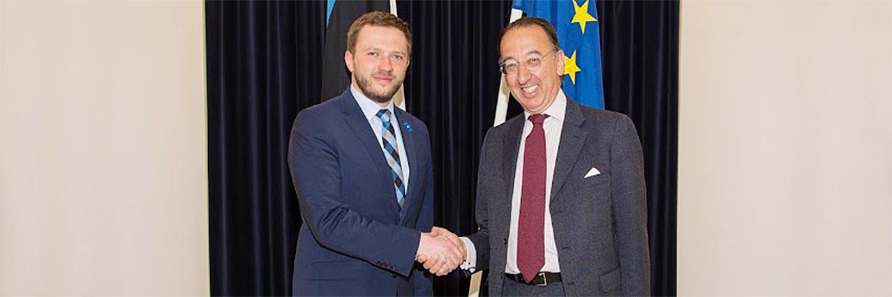 Chief Executive Domecq visits Estonia for Defence talks ahead of Estonian EU Presidency