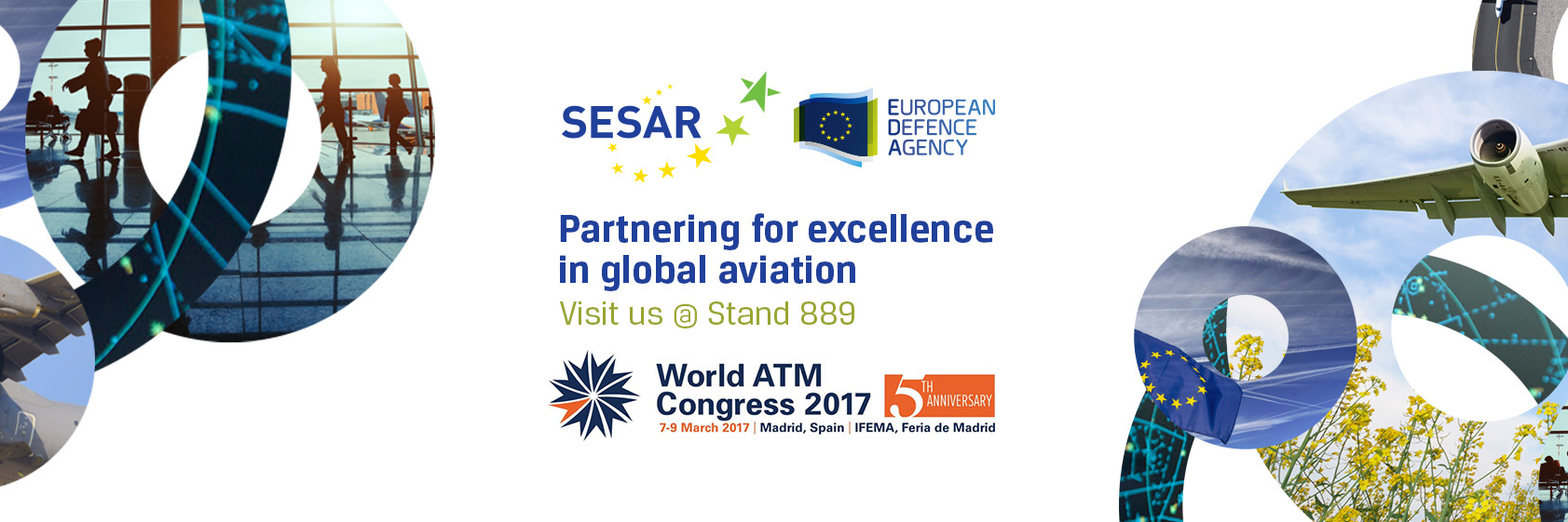 Meet the EDA team! Partnering for excellence in global aviation at the World ATM Congress (SESAR Stand 889)