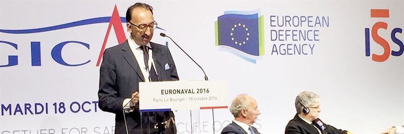 "Jorge Domecq at Euronaval: ""More cooperation needed to develop the next generation naval platforms"""
