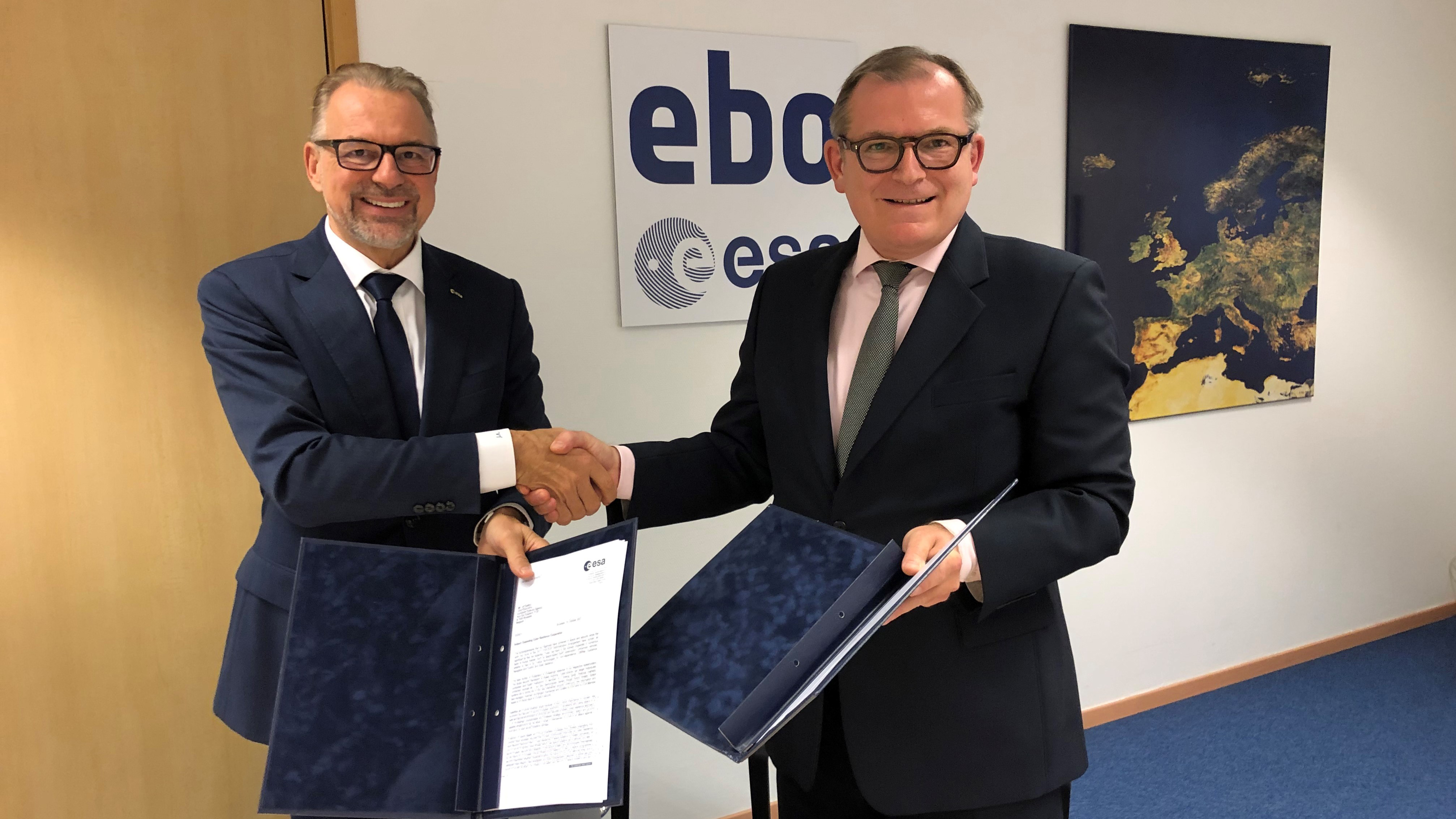 EDA and ESA deepen cooperation on cyber resilience
