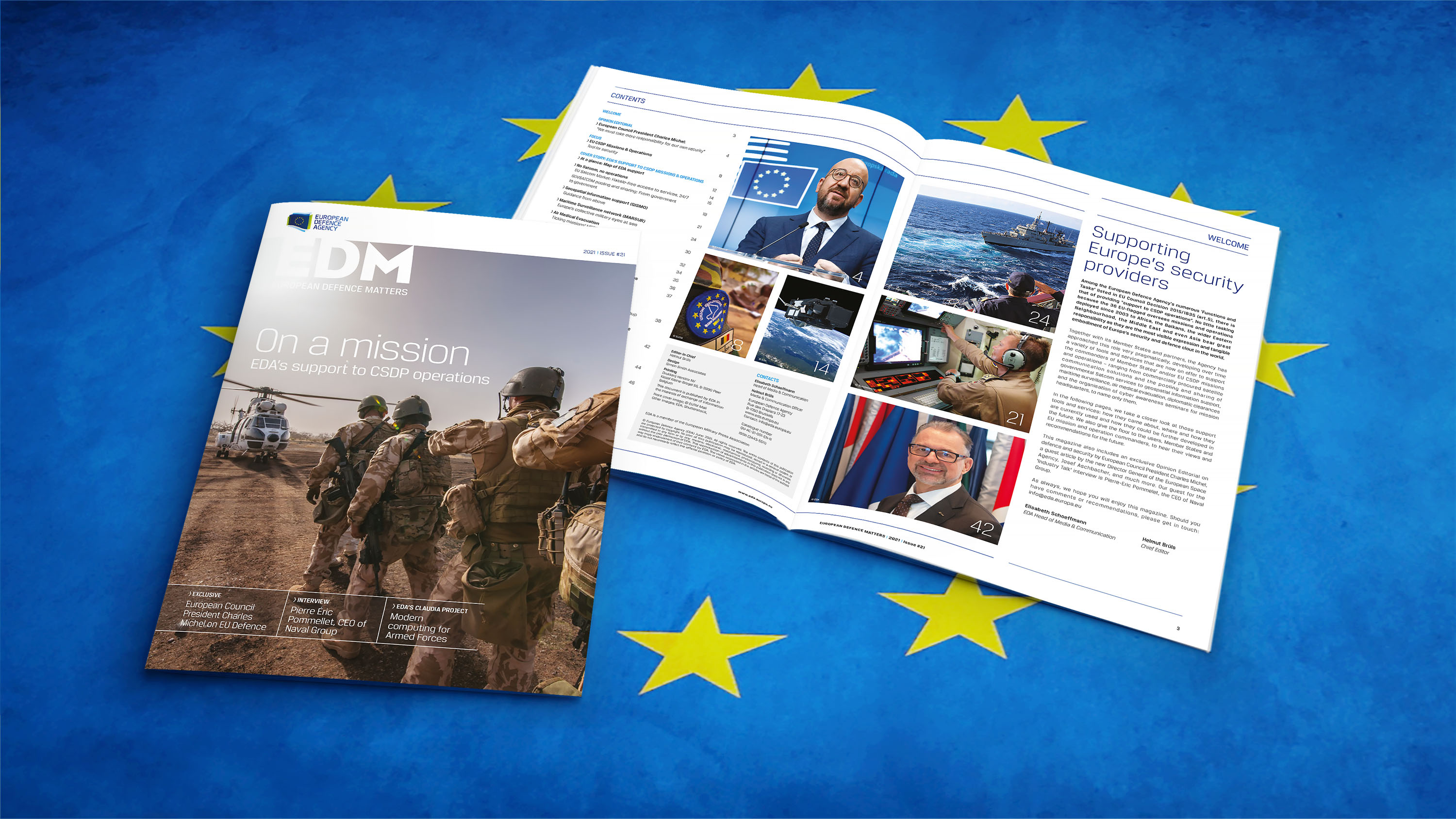 Focus on EDA support to EU missions & operations: our new magazine is out!