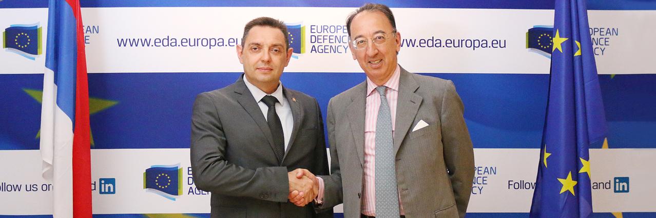 Serbian Minister of Defence visits EDA