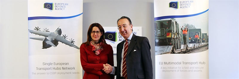 Slovenian Minister visits EDA, signs transport hub project agreement
