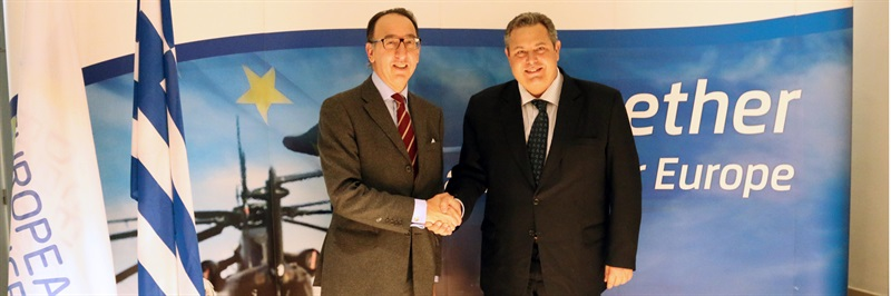 Jorge Domecq welcomes Greek Minister of Defence at EDA
