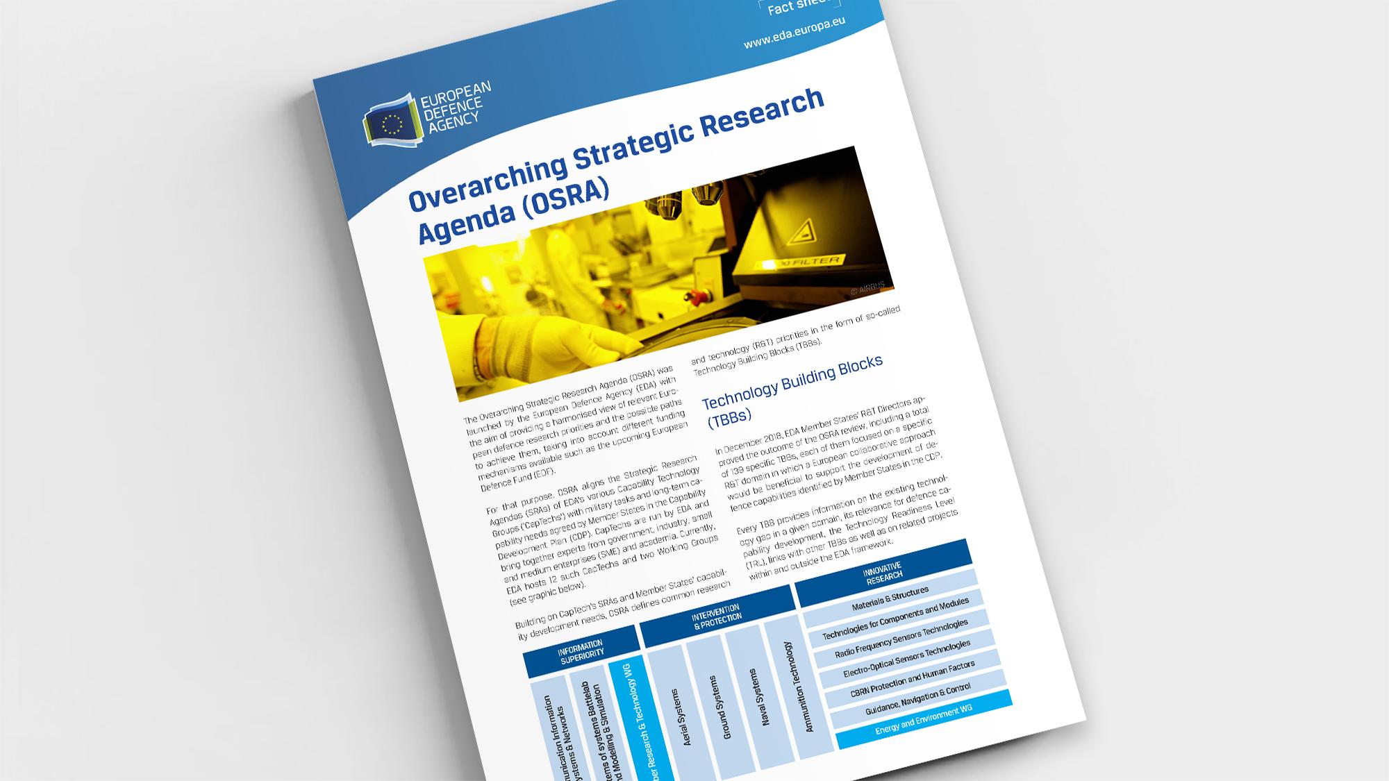 Factsheet Overarching Strategic Research Agenda