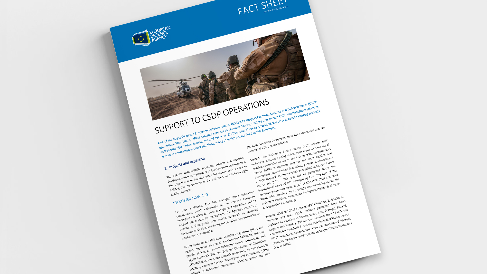 Factsheet Support to CSDP Operations