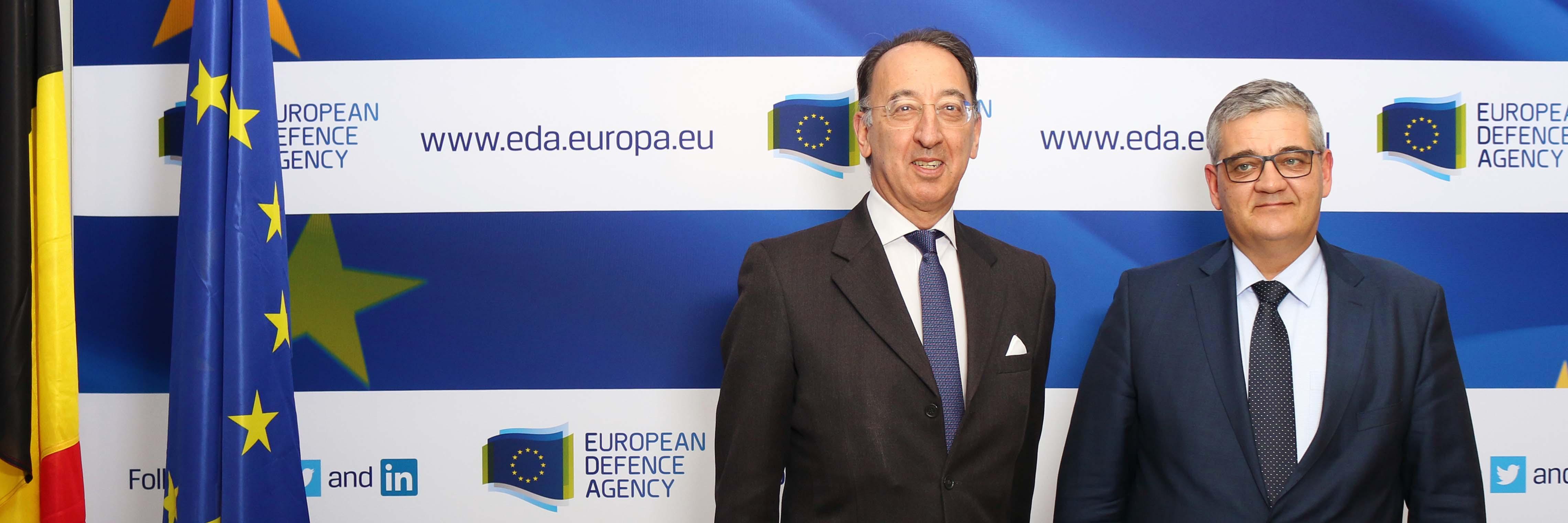Belgian Minister of Defence visits EDA