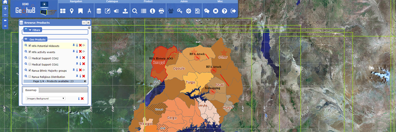 GISMO puts geospatial support to CSDP missions on the map