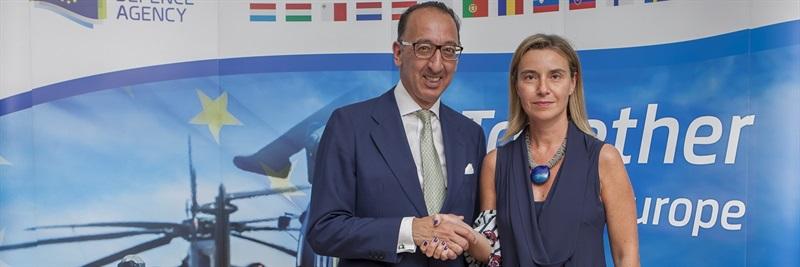 High Representative Federica Mogherini visits EDA