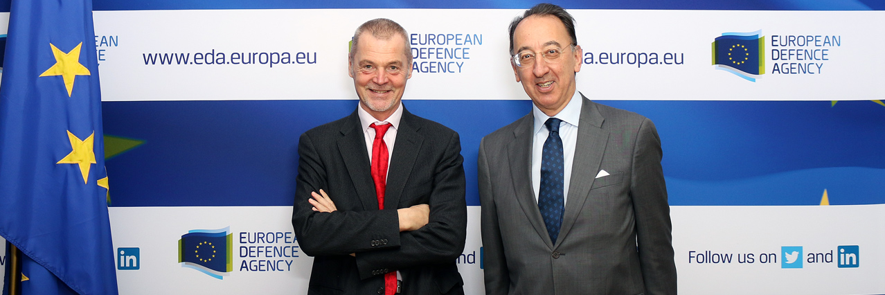 EU-NATO cooperation: EDA Chief Executive welcomes NATO ASG for Emerging Security Challenges and Cyber Centre of Excellence Director