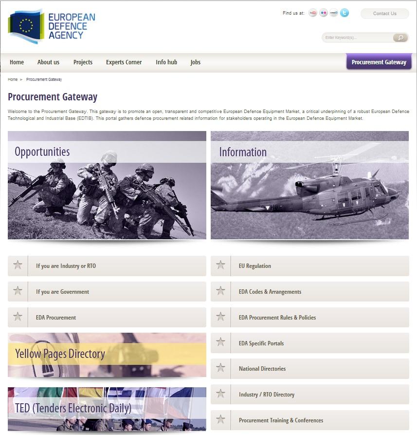European Defence Agency Launches Defence Procurement Gateway